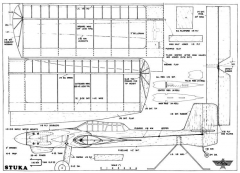 Stuka 6 model airplane plan